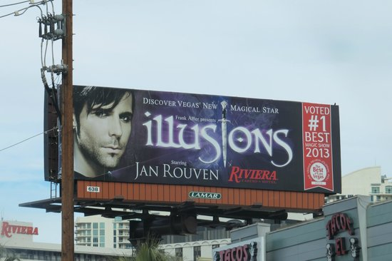 Illusions starring Jan Rouven : The Sign says it All !!!