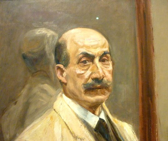 Hamburger Kunsthalle: Detail of a Max Liebermann self-portrait
