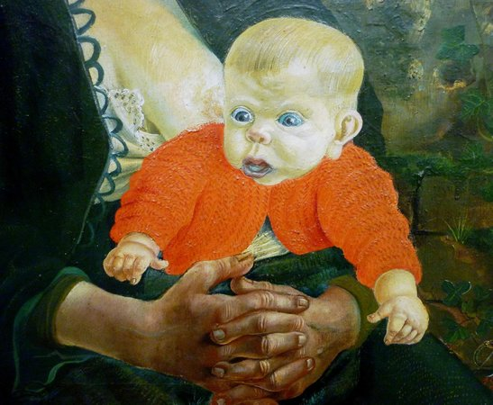 "Hamburger Kunsthalle: Detail of Otto Dix ""Mother and Child"""