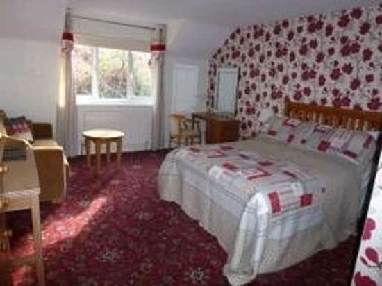Swallow Falls Hotel: Double bed with double bed settee