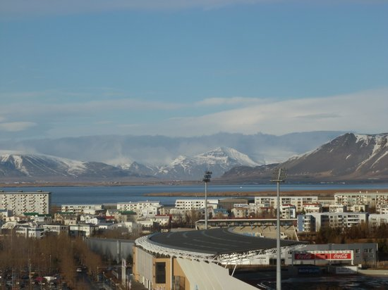Reykjavik Lights: View from our hotel room
