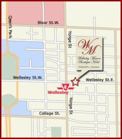 Wellesley Manor Boutique Hotel: Map