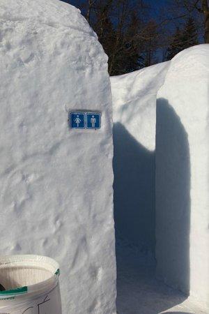 Hotel de Glace: Bathrooms
