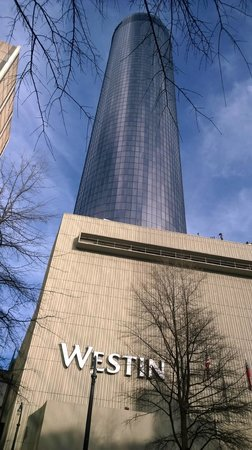 The Westin Peachtree Plaza: Walking Back To Hotel