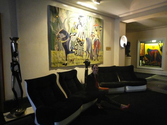 Hotel Negresco: это на нашем этаже в холле. Он сделан в японском стиле