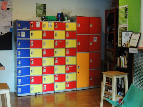 The Green Kiwi Backpacker Hostel: Locker