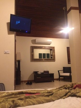 Mangoes Resort: View from the bed.