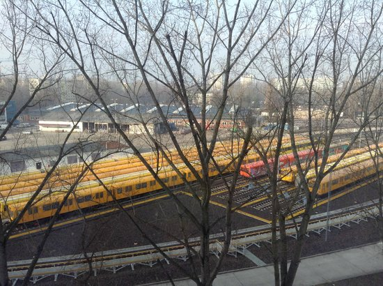 ABACUS Tierpark Hotel : Train parking-lot at the back part of the hotel