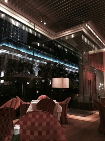Park Hyatt Saigon: The glassed in area of SQUARE ONE,you felt you were dining outside the Opera House