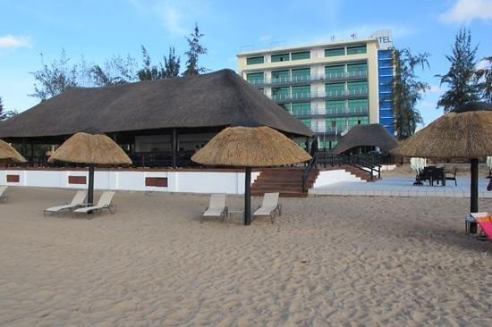 hotel restinga visto da praia