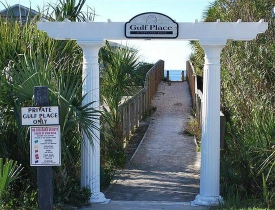Gulf Place: our beach access
