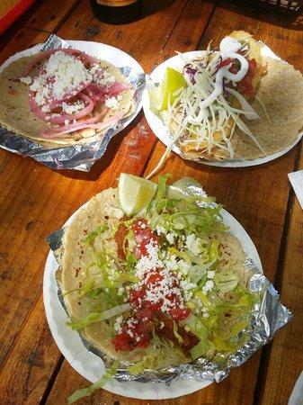 Zaco's Tacos: TACOS! 《Pork belly, tuna & fried fish》