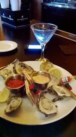 Traditions on the Beach: oysters appetizer....husband loved this