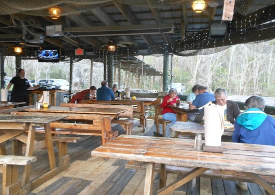 Patio overlooking the river picture of clark 39 s fish camp for Fish camp jacksonville