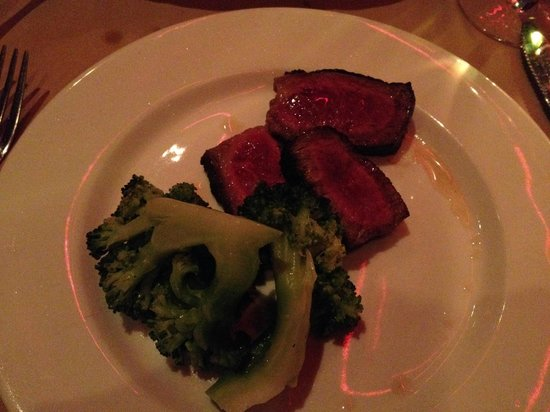 Club A Steakhouse : medium cooked porterhouse