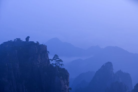 Huangshan, Chiny: Refreshing Terrace