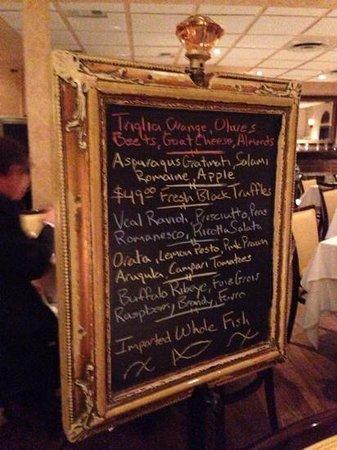 Da Marco Cucina E Vino: faboulous choices as specials.