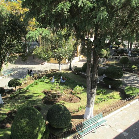 Museo del Ambar: park / courtyard next to the museum