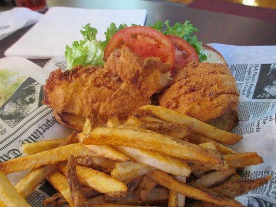 Mr. Fish: Fried Haddock fish sandwich