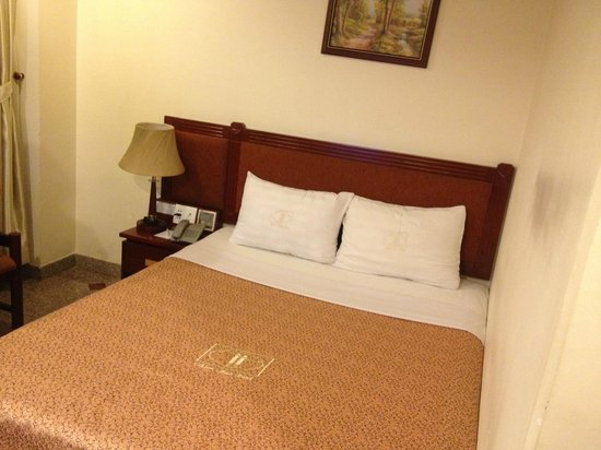 Thien Thao Hotel Ho Chi Minh City: Large bed with clean sheets.