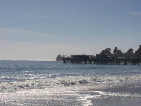 Capitola City Beach: West Santa Cruz view