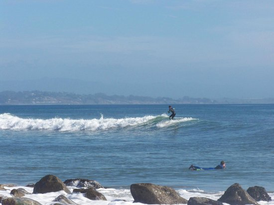 Capitola City Beach: Catching a wave