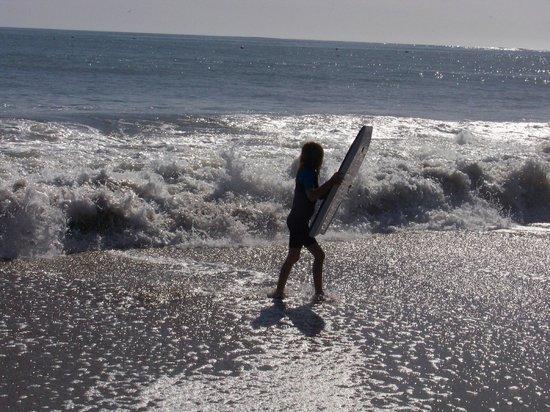 Capitola City Beach: Body board fun