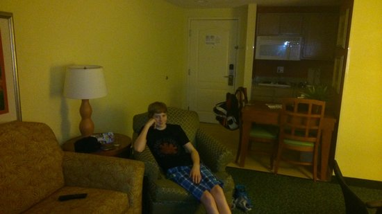 Homewood Suites by Hilton Orlando-Nearest to Univ Studios: nice to sit on comfortable furniture after a day at the parks.