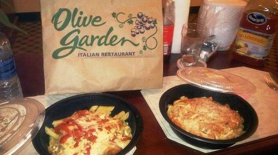 Olive Garden: Platos para llevar, spaghetis y Zitis