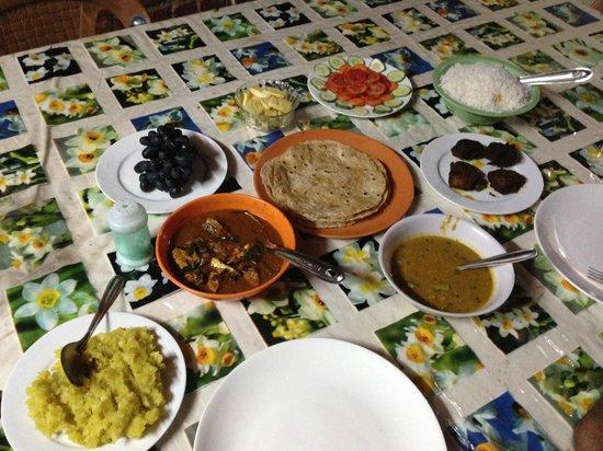 Our first meal at Nakshathra Inn