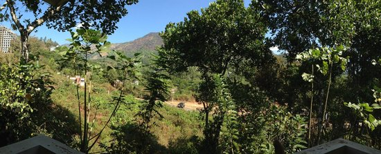 Nakshathra Inn: Panoramic view from the balcony of our room