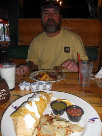 Wildcat Willies Ranch Grill & Saloon: best breakfast burrito ever