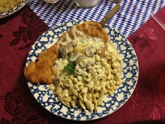 Josie's German Delicatessan: jaeger schnitzel. aka heaven on a plate