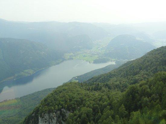 Hotel Kristal: zicht op meer van Bohinj vanuit Vogel