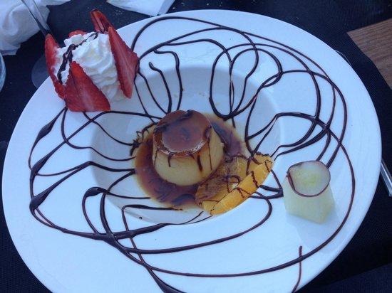 Restaurante La Marmita: Flan de romero