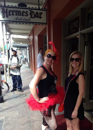 Two Chicks Walking Tours: Tour guide in tutu - a New Orleans moment.