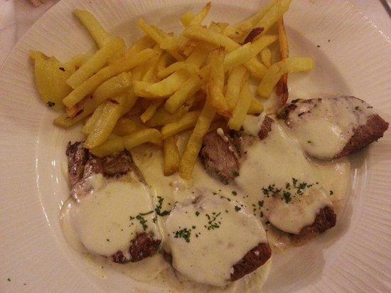 Restaurante Biarritz: Solomillo al roquefor