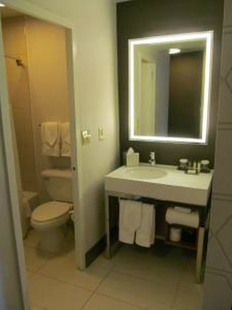 DoubleTree by Hilton Hotel Metropolitan - New York City: Separate vanity area was spacious, plenty of outlets