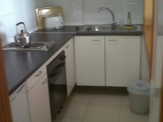 Aparthotel Parque de la Paz: kitchen area