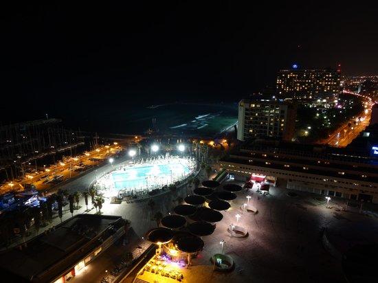 Herods Tel Aviv : Night view from Room 1811