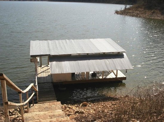 Wagon Wheel Resort Lake Norfork: Our private fishing and swimming dock