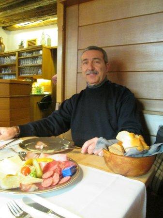 Gasthof Weisses Rossl: aspettando il cibo......ottimo!