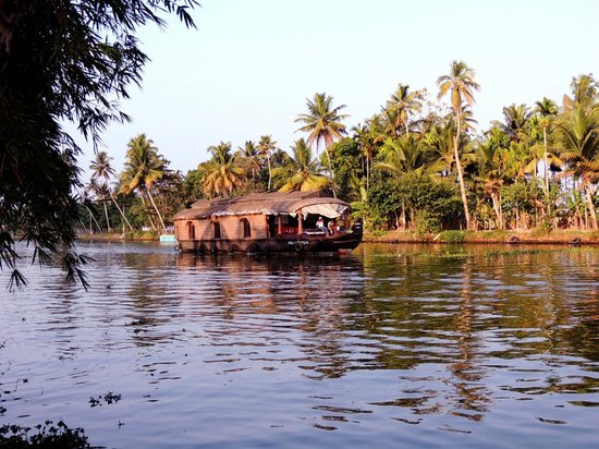 Palmgrove Lake Resort: Houseboats cruising in the canals