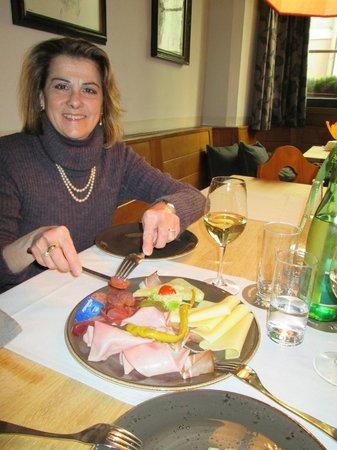 Gasthof Weisses Rossl: l'antipasto