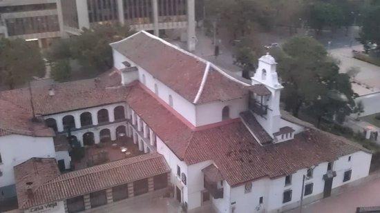 Hotel Tequendama: Church below my room