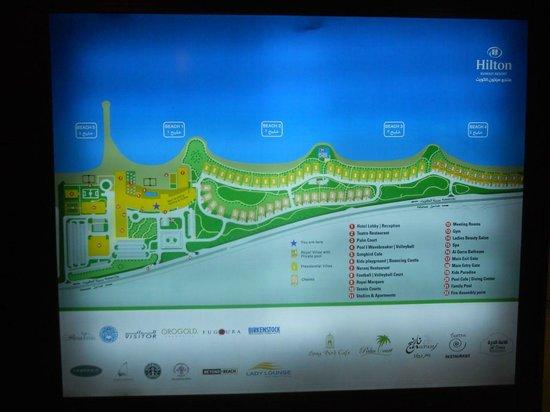 Hilton Kuwait Resort: Floor plan of the resort