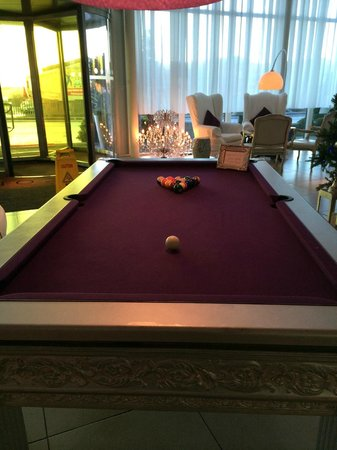 The Beacon: Pool table available to hire in the hotel lobby