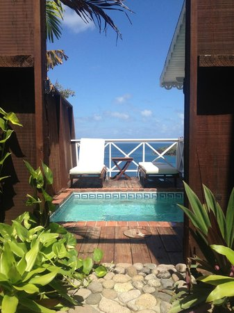 Ti Kaye Resort & Spa: View from outdoor shower