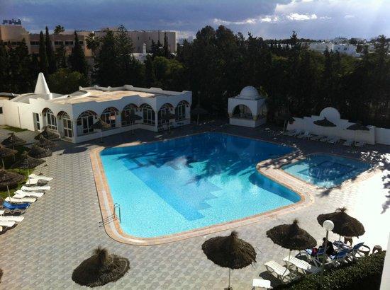 Hotel Menara: vue de la chambre (balcon)