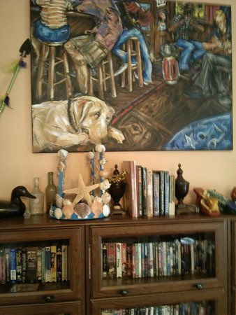 Elysian Fields Inn: My Neptune crown takes its place on the Mardi Gras Mantle!
